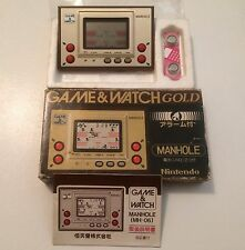 Nintendo Game & Watch Manhole Boxed handheld video game console Time clock alarm