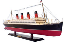 "RMS Lusitania Cruise Ship Assembled 30"" Built Handmade Ocean Liner Wooden Model"