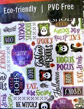 Halloween Tablecloth Skulls & Sayings Vinyl With Polyester Back 52 X 90 inch