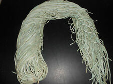 "(1) Light Pale Blue Superior Deer Lace or Buckskin Lace 1/8th""x 6' Long.Soft."