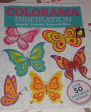 NEW Colorama Inspiration Adult Coloring Book Angels Animals Nature