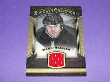 2014 Goodwin Champions MARK MESSIER Game Worn Relic Rangers - Oilers - Canucks