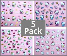 HELLO KITTY DIY 3D Nail Art Stickers - PACK OF 5 FOR $10 - Girls Party Lolly Bag