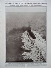 1914 TORPEDO BOAT DESTROYERS IN NORTH SEA ROYAL NAVY PATROL WW1 WWI