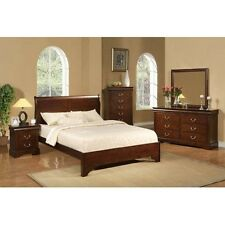 Alpine Furniture 2200F West Haven Full Low Footboard Sleigh Bed Cappuccino  New