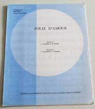 Partition vintage sheet music DOUCHKA : Folie d'Amour * 80's