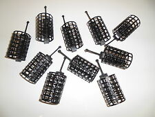 10 x Round Metal Cage Feeders - 40grams.  Carp / Coarse fishing