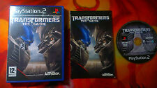 TRANSFORMERS THE GAME PLAYSTATION 2 PS2 SHIPPING 24/48H