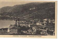 CARTOLINA DI ANDORA STAZIONE-SAVONA VIAGGIATA C1-187