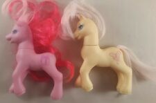 my little pony toy figure 1997 x2 - pink and yellow my little pony