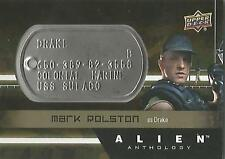 "Alien Anthology - DT-DR Mark Rolston ""Drake"" Space Marine Dog Tag Card"