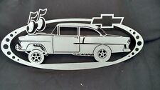 55 Chevy Gasser Oval Sign with Bowtie