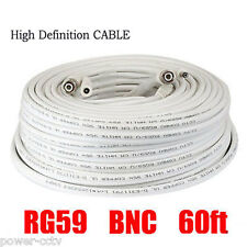 1x 60ft Premade RG59 Combo Siamese Coaxial BNC Cable to HD-SDI Security Camera