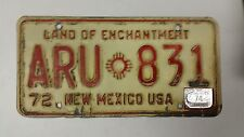1974 NEW MEXICO Land of Enchantment, New Mexico USA License Plate ARU-831