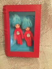 RARE 2005 NATIONAL BARBIE CONVENTION DR SEUSS THING 1 & 2 KELLY DOLLS TABLE GIFT