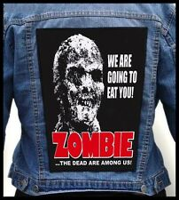 ZOMBIE #2 --- Giant Backpatch Back Patch /Horror Movie Gore Cannibal Lucio Fulci
