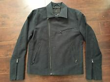 BNWT 7 for all Mankind MEN'S (*RARE) Blue-Grey Cotton Motorcycle (Biker) Jacket
