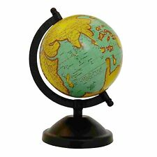 Mini Rotating Desktop Globe World Earth Ocean Geography Globes Table Decor 8.5""