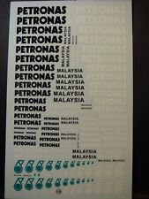 "DECALS 1/43 - 1/32 - 1/24 - 1/18 PETROLIER  "" PETRONAS "" -  T258"