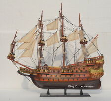 "WA55 # Wasa Swedish Wooden Model Tall Ship Sailboat 22"" Boat - Nautica - UNIQUE"