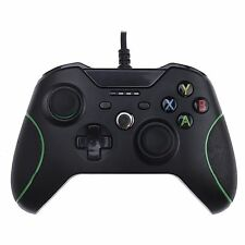 BLACK xbox one S PC USB Wired Gamepad Controller con Dual Vibrazione Jack 3.5mm
