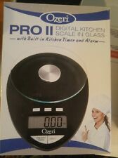 Ozeri Pro II Digital Kitchen Scale with Removable Glass Platform and Countdown