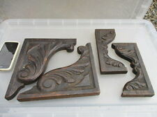 Vintage Carved Wood Part Furniture Decoration Architectural Antique Carved Old