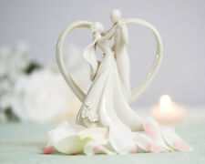 Heart Framed Bride and Groom Wedding Cake Topper Figurine *BNIB*