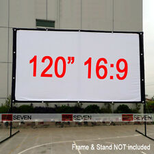 "120"" 16:9 Portable Fabric Projection Screen Film Curtains for Home HD Projectors"