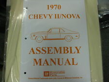 1970 CHEVY II, NOVA (ALL MODELS) ASSEMBLY MANUAL