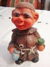 Heico Happy Monk Bobblehead Nodder West Germany 1960s, RARE[1cu]
