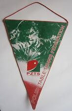 PZTS Polish TABLE TENNIS federation pennant flag Poland,tenis stołowy Polska