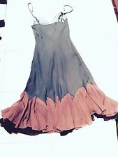 $275 Womens Betsey Sz 4 Johnson Dress Silk Chiffon Dress Teal / Pink Prom Party