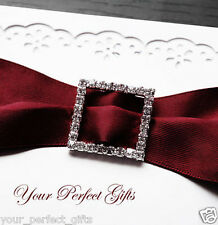 26mm Square Invitation Rhinestone Crystal Buckle Slider