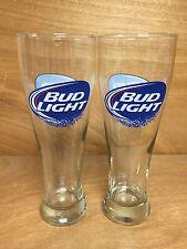 Bud Light 22oz Super Pilsner Beer Glass - Set of 2 Glasses - NEW