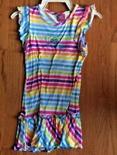 WHAT A DOLL GIRLS RAINBOW Heart Cute RUFFLE DRESS Wear w Leggings SIZE M 7-8 ❤