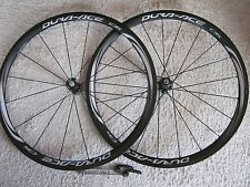 SHIMANO DURA ACE C35, WH-9000 CARBON 11-SPEED TUBULAR WHEEL SET,VGC