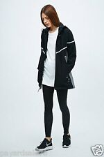 WOMEN'S NIKE JACKET  WOOL COAT BLACK REFLECTIVE FLASH SILVER $200 SIZE LARGE