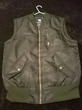 American Stich Bomber Jacket Sleeves Size M High Visability