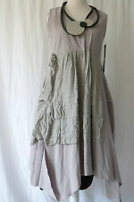 STUNNING GERMAN  CHAMPAGNE HORATIO  LAGENLOOK parachute COTTON dress M/L ECRU
