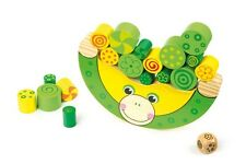 Wooden Balancing Frog Kids Learning Toy - Stacking Game for Children Boy Girl