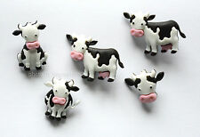 Mooove It! / Cow Shape Shank Buttons / Farm Animal Buttons / Jesse James
