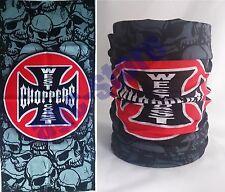 Biker Chopper Tribal Skull Flammen Totenkopf Bandana Tuch Kopftuch Halstuch NEU