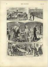 1875 Illustrations In An Early Newspaper Train