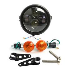 "Motorcycle 6.5"" LED Projector Daymaker Headlight + Turn Singal Lights + Bracket"