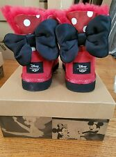 UGG DISNEY MINNIE RED SWEETIE BOW CLASSIC BOOTS kids 3US/33EU 5W NIB SOLD OUT