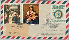 62656  - PARAGUAY - POSTAL HISTORY:  REGISTERED COVER to ITALY  1976 - ROTARY