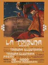 COMMECIAL ADVERT NEWSPAPER LA TRIBUNA ROME ITALY POSTER ART PRINT BB1639A