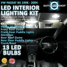 VW GOLF PASSAT B5 WHITE LED INTERIOR LIGHT SET KIT BULBS XENON SMD