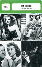 Ida Lupino USA Période 1946-1976 Réalisatrice Productrice  ACTRICE FICHE CINEMA